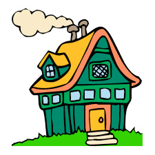225x225 Free Clipart Of Houses