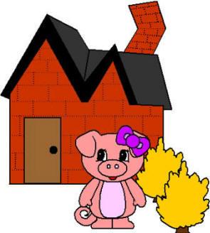 295x328 House Clipart Three Pig