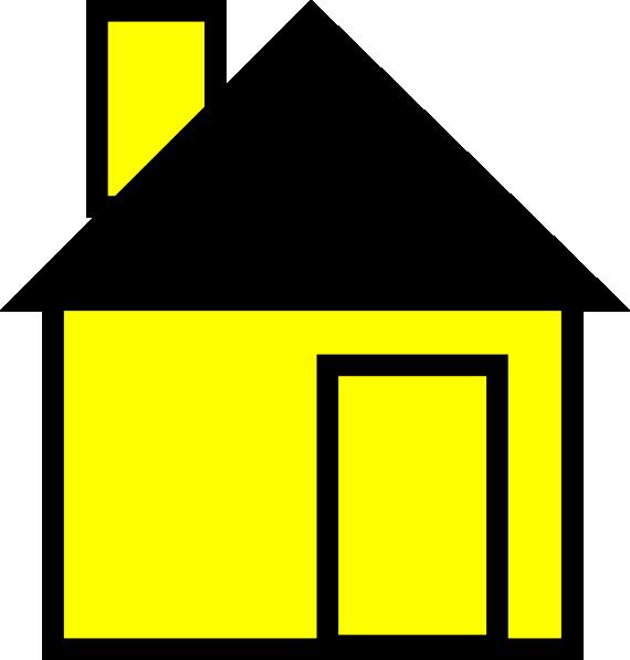 570x597 Simple House Yellow Clip Art