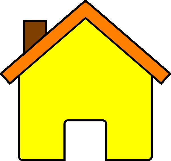 600x565 Yellow House 2 Clip Art