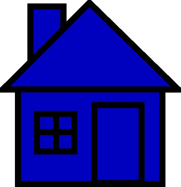 582x600 Blue House Clip Art