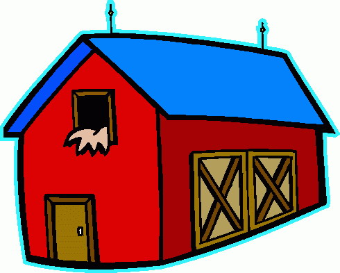 490x393 Farm Houses Small Farm House Cartoon Farm House Farm House Clip