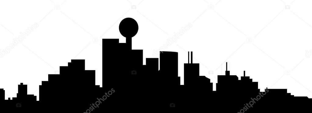 1023x371 Dallas Texas Skyline Stock Vectors, Royalty Free Dallas Texas