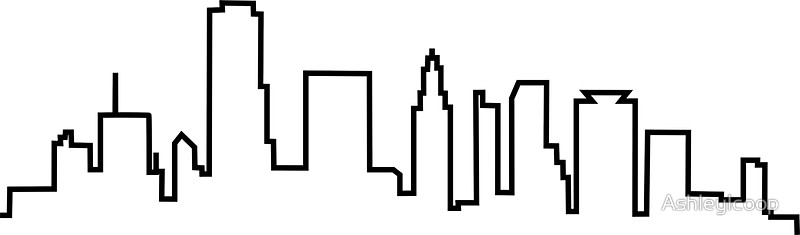 800x235 Houston, Texas City Skyline Stickers By Ashleylcoop Redbubble
