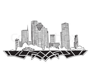 320x265 Houston, Texas Skyline Detailed Vector Silhouette Stock Vector