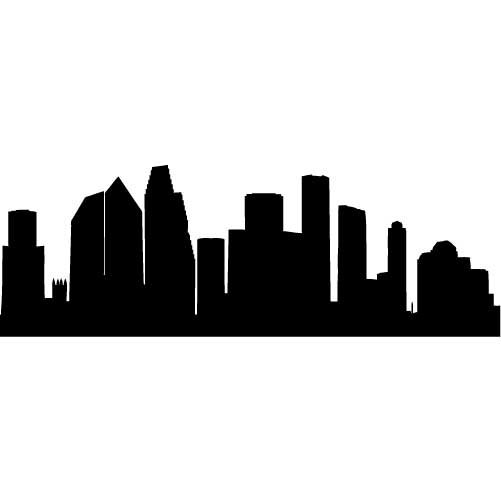 501x501 Houston Skyline Silhouette Large Vinyl Wall Decal By Wallstickz