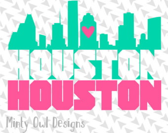 340x270 Houston Skyline Etsy