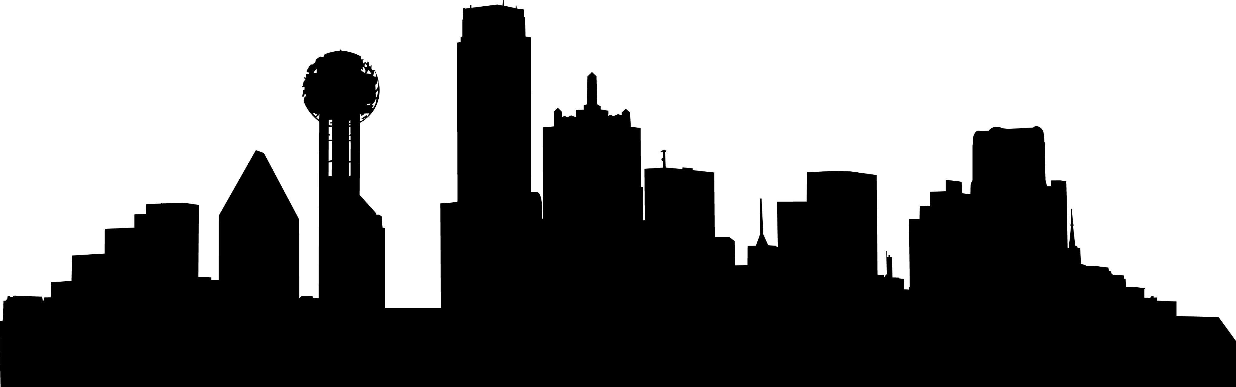 4116x1289 Skyline Clipart Dallas Skyline
