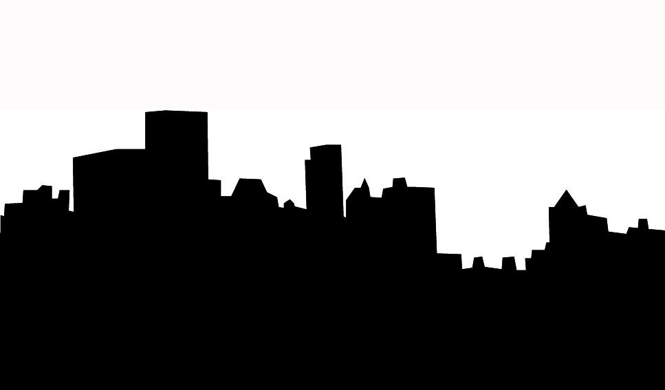 967x567 Cityscape Clipart Black And White