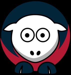 285x299 Sheep 3 Toned Houston Texans Colors Clip Art