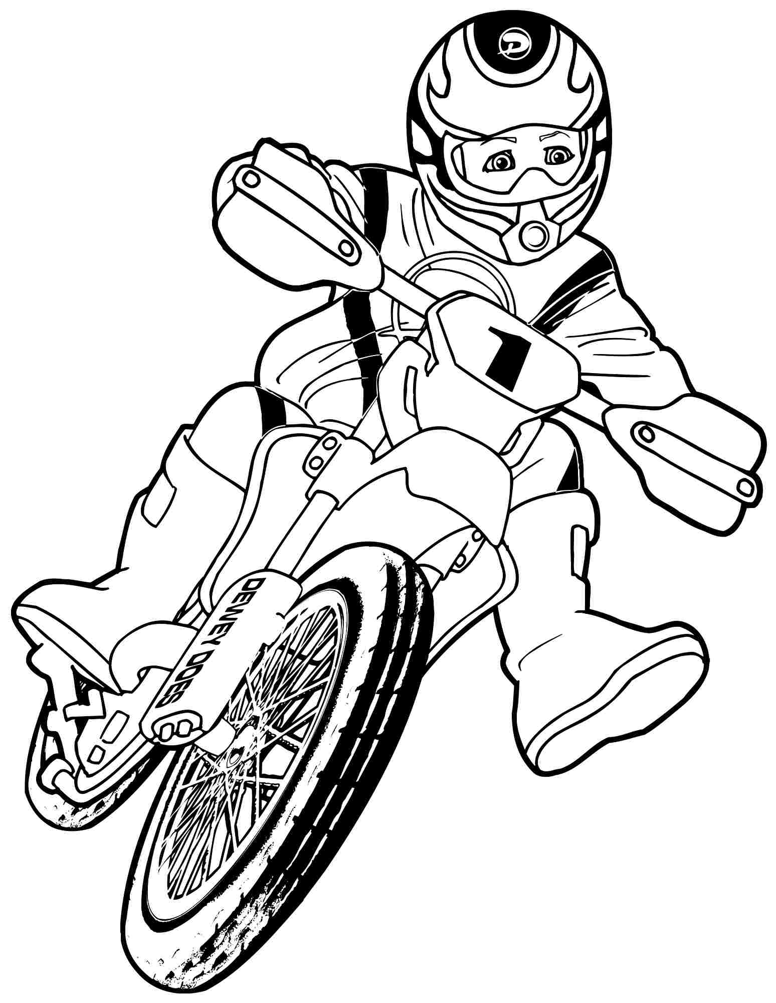 1548x2000 Free Transportation Motorcycle Colouring Pages For Kindergarten