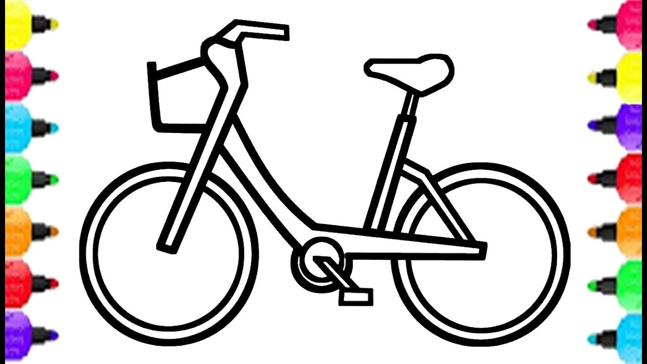 1280x720 How To Draw Bicycle And Coloring For Kids Baby