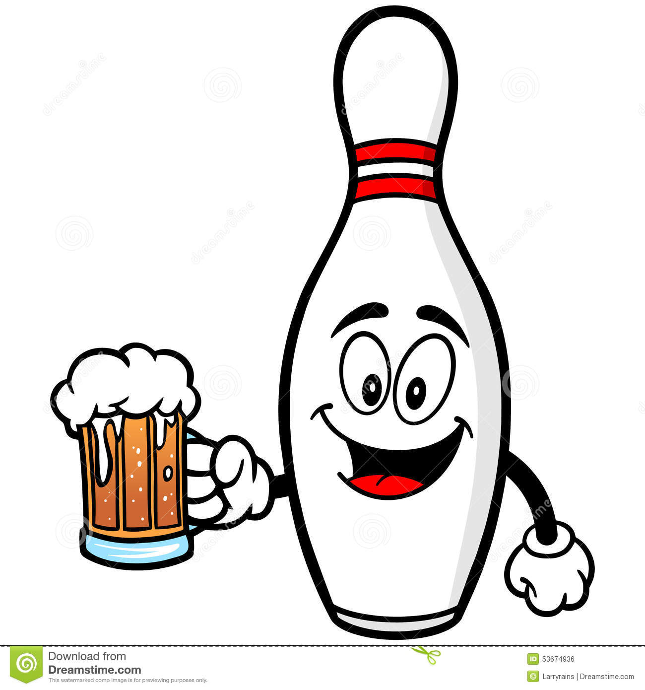 1300x1390 Bowling Pin With Beer Royalty Free Stock Image Inspiration