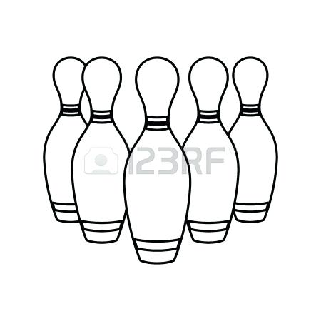 450x450 Bowling Pins Clipart Bowling Pins Sport Game Icon Vector