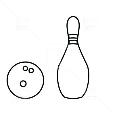 400x400 Bowling Pins Clipart Pin And Bowling Ball Black Color Icon