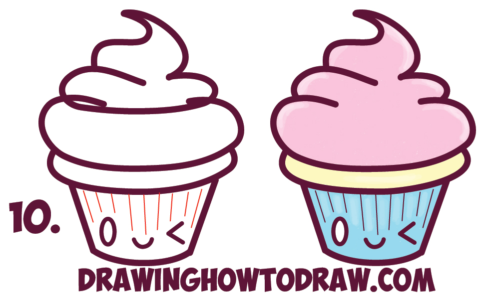 How To Draw A Cute Cupcake   Free download best How To Draw A Cute ...