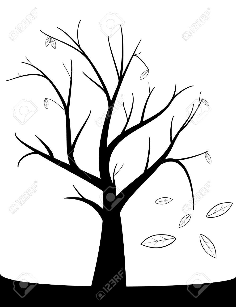 1000x1300 Drawn Dead Tree Leave Sketch