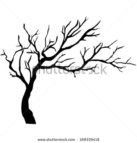 450x470 Tree Isolated Sketches And Script Silhouettes