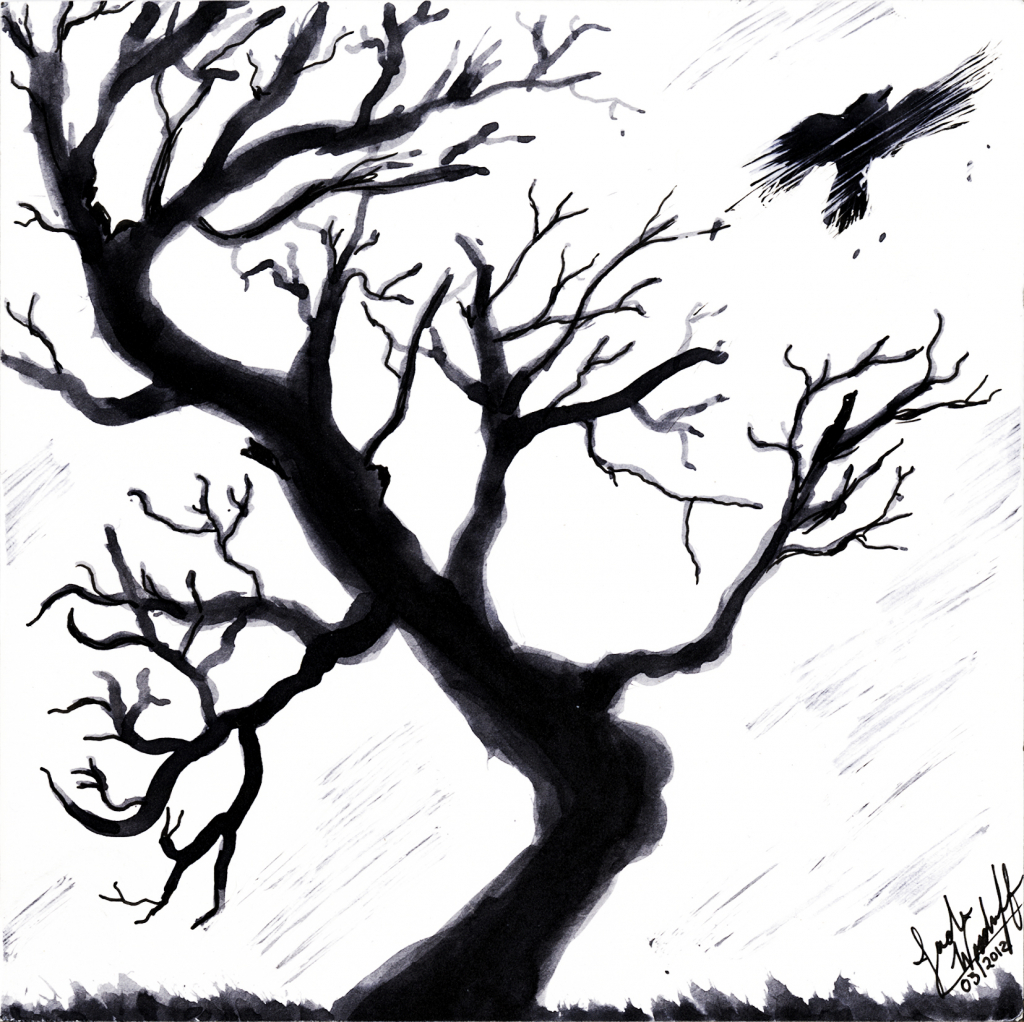 1024x1022 Dead Tree Drawing