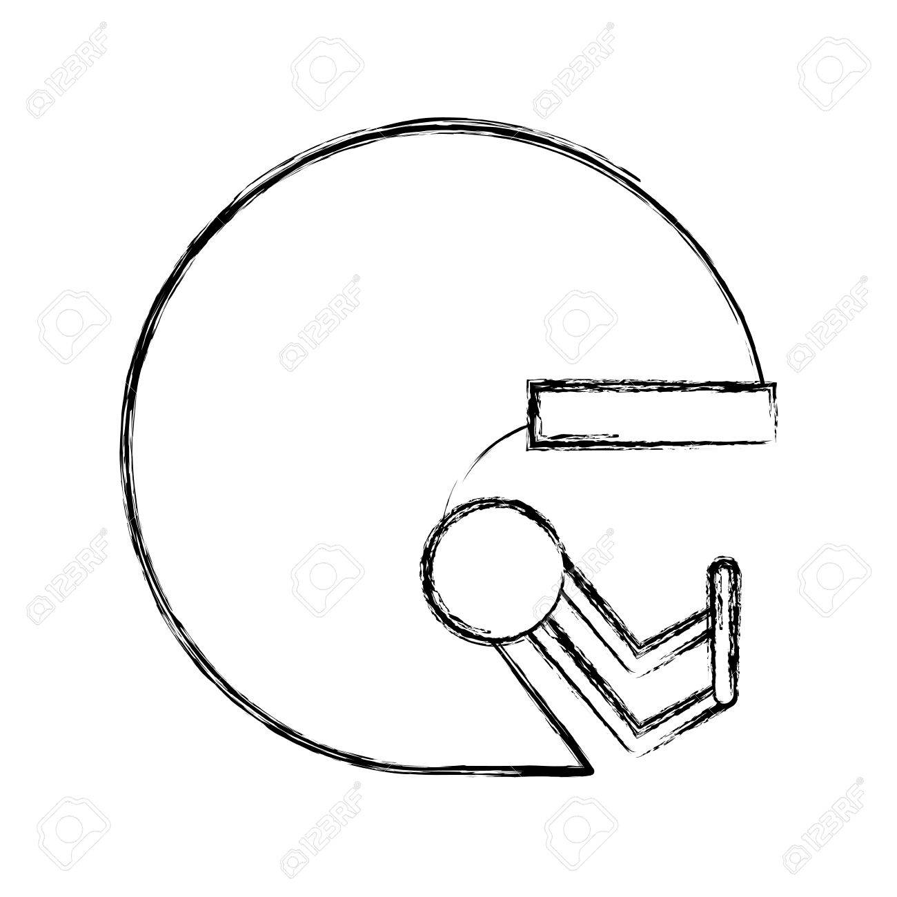 1300x1300 Cute Sketch Draw Football Helmet Cartoon Vector Graphic Design