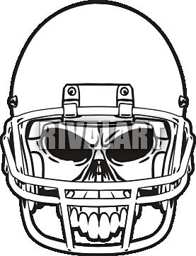 277x361 Football Helmet Front View Clipart