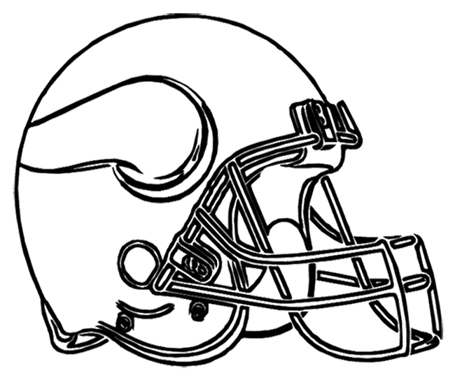 650x544 Minnesota Vikings Football Helmet Coloring Page