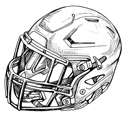 400x390 Sketches For Football Helmet Sketch