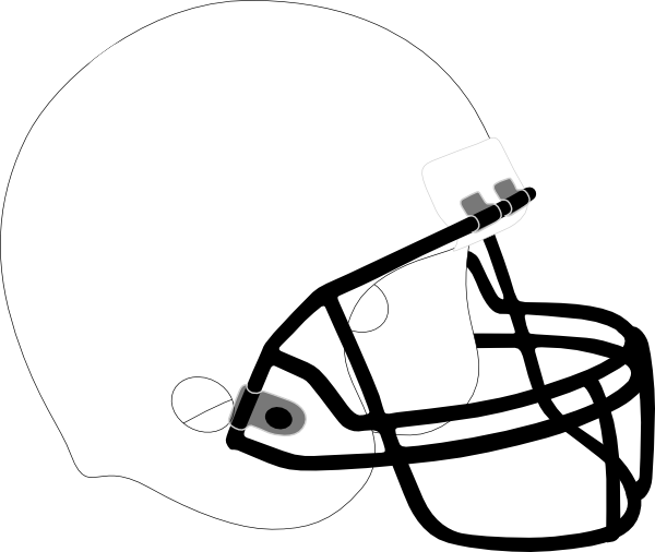 600x506 Blank Football Helmet Coloring Page