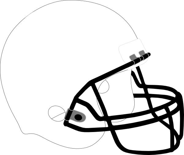 600x506 Blank Football Helmet Coloring Page
