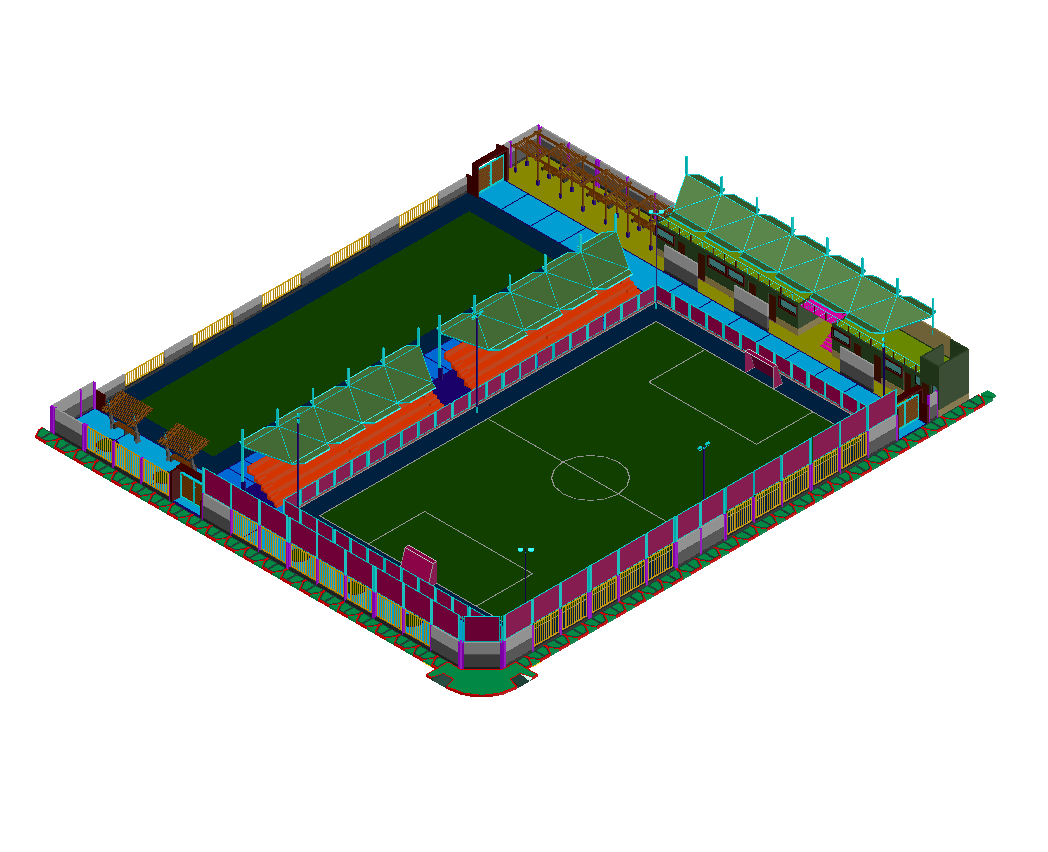 1048x852 Football Stadium Free Cad Drawing