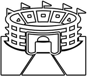 298x261 Stadium Outline Clip Art