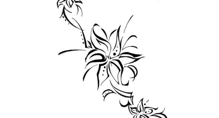 728x393 Hawaiian Flower Tribal Tattoos How To Draw An Hawaiian Flower