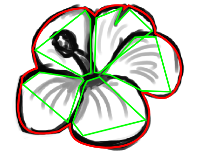 425x316 How To Draw A Hawaiian Flower