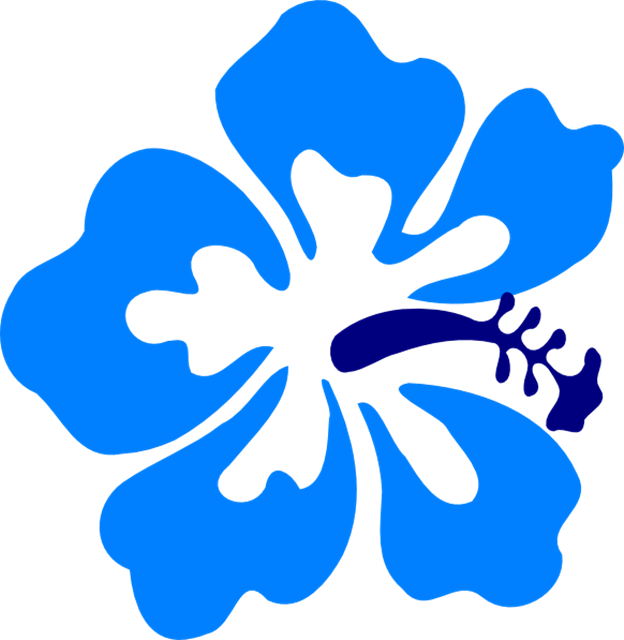624x640 How To Draw A Hawaiian Flower Free Download Clip Art