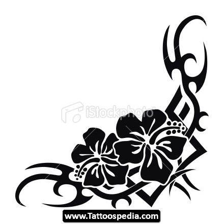 440x440 33 Best Hawaiian Tribal Flower Tattoos Images
