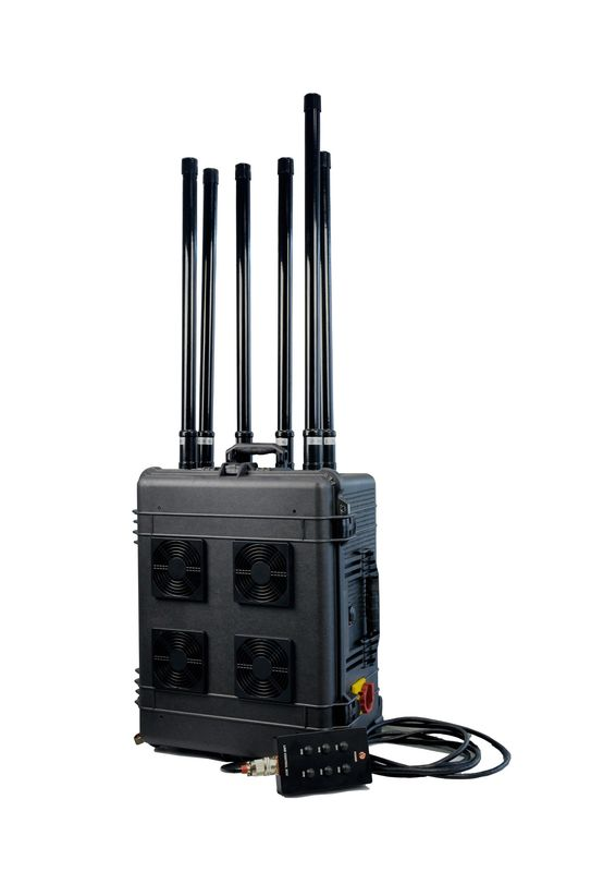 554x800 To 1500m Jamming Range High Power Draw Bar Box 6 Channels Mobile