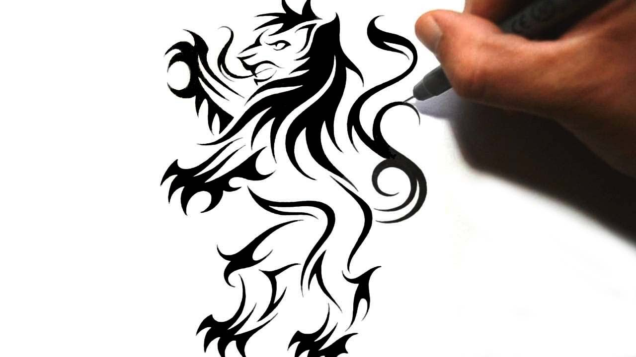 1280x720 How To Draw A Rampant Lion