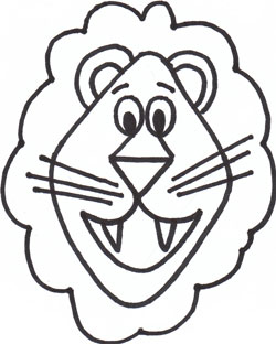 250x312 Lion Drawing Template