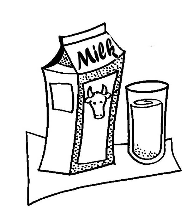 milk carton coloring pages - photo#21