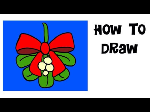 480x360 How To Draw Painting Mistletoe Merry Christmas Kids Drawing