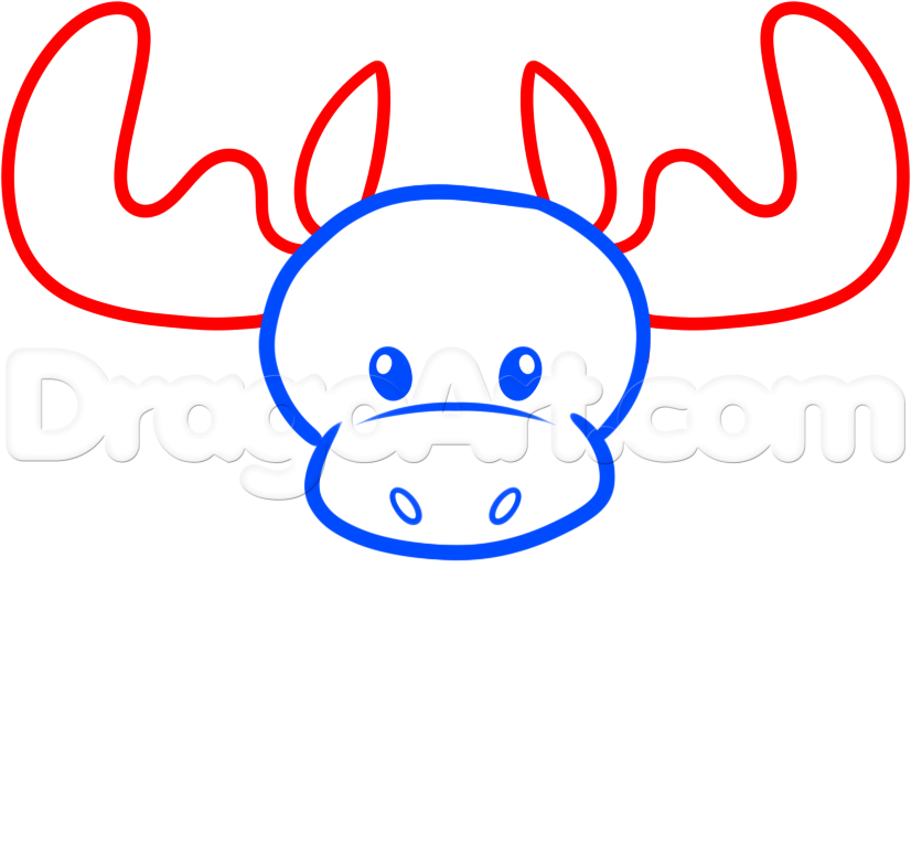 826x768 How To Draw A Moose Face Group