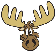 190x179 Moose Cartoon Vector