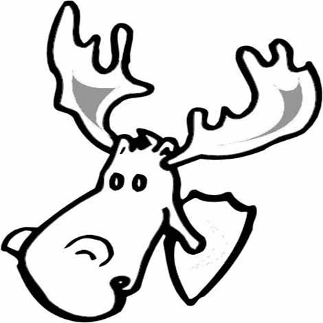 470x470 Moose Head Drawing