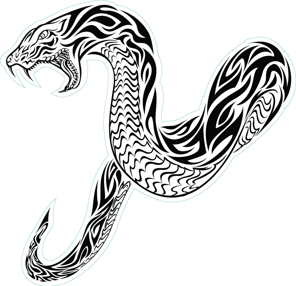 1001x969 Snake Clipart Tribal