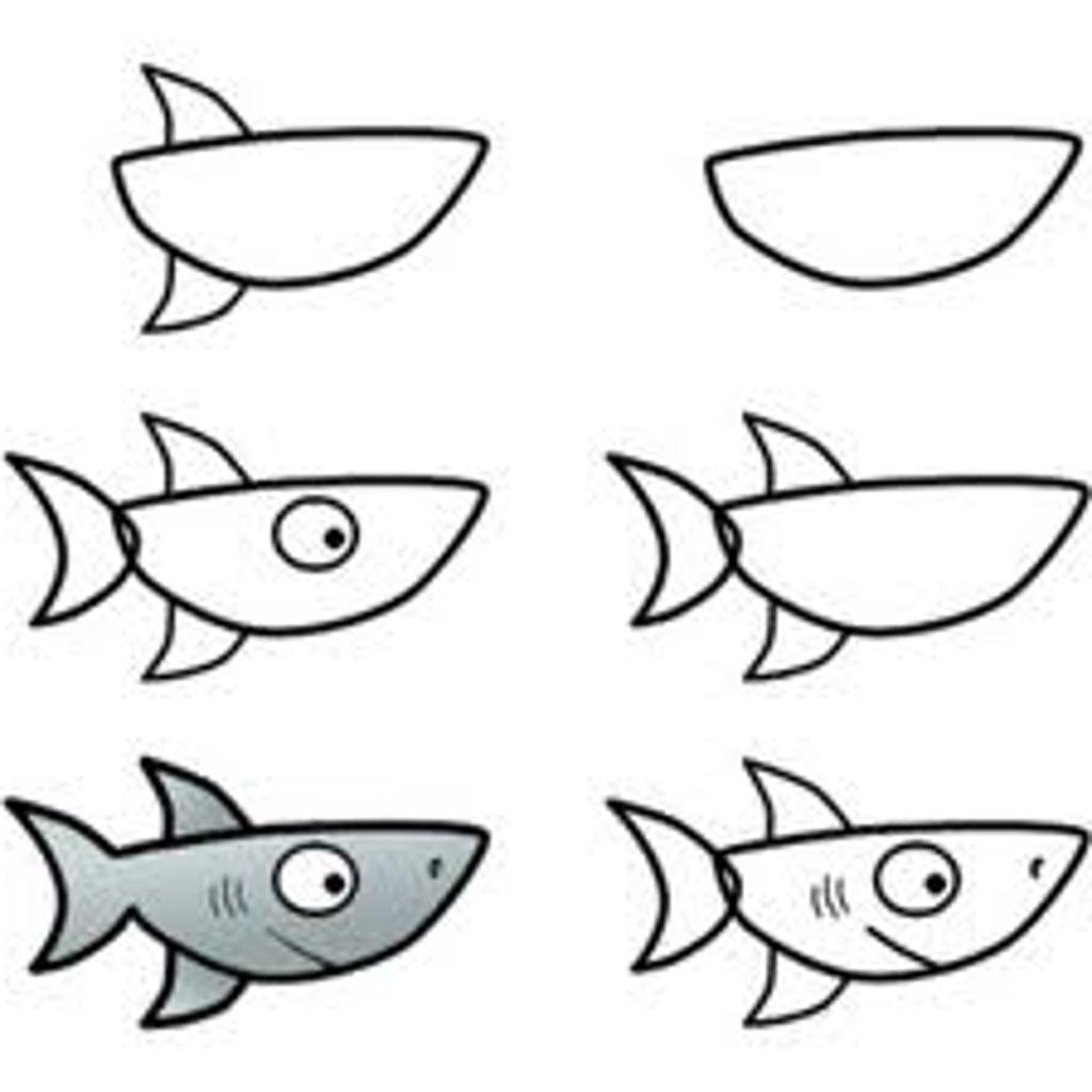 1024x1024 Simple Drawing Of A Shark Simple Shark Crafthubs