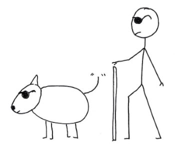 350x294 How To Draw A Stick Dog