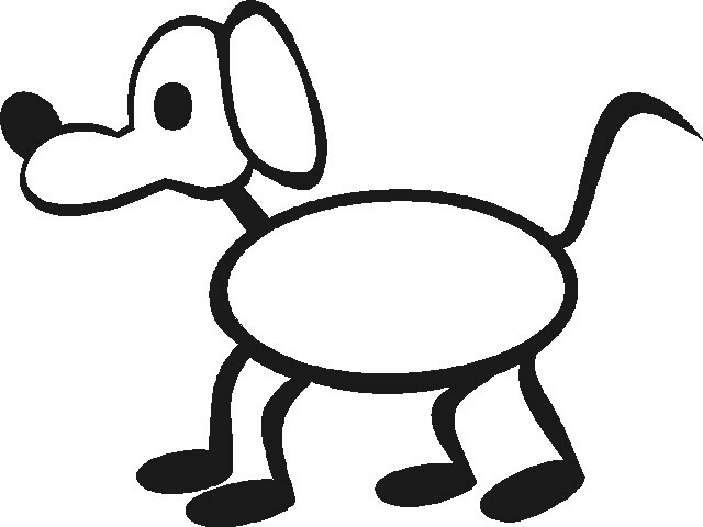 640x480 Stick Figure Dog