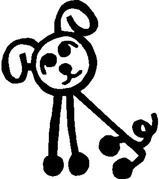 319x360 How To Draw A Stick Figure Dog