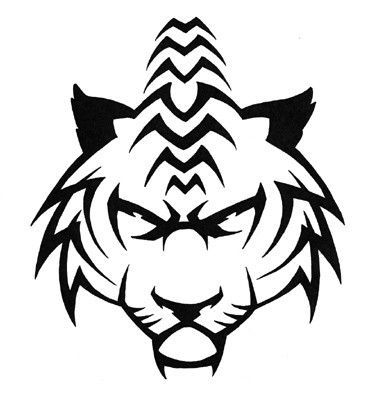 377x403 Best Tribal Tiger Tattoo Ideas White Tiger