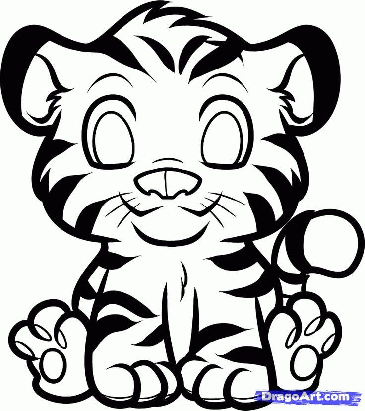 736x828 Tigres Clipart Drawing Cartoon